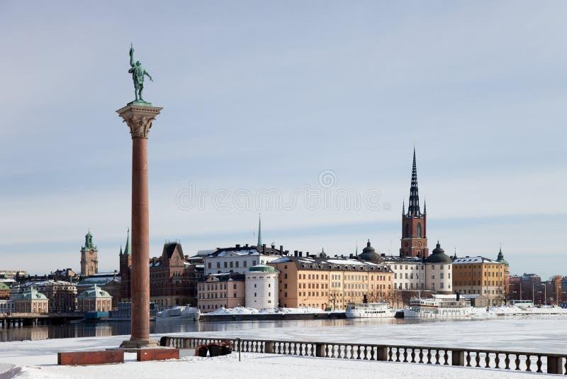 Winter in Stockholm stockfotos