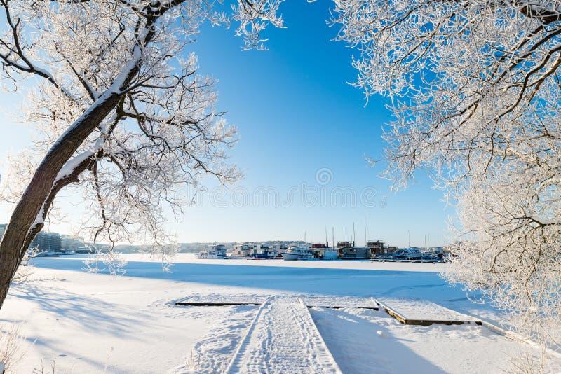 Winter in Stockholm lizenzfreie stockfotografie