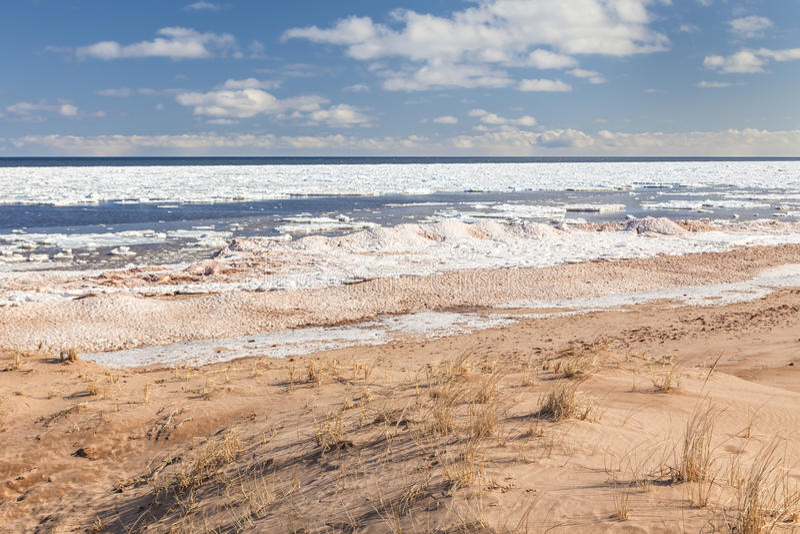 Winter-Strand lizenzfreies stockbild