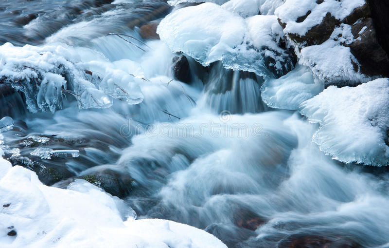 Download Winter stream stock photo. Image of fresh, icicle, river - 23660760
