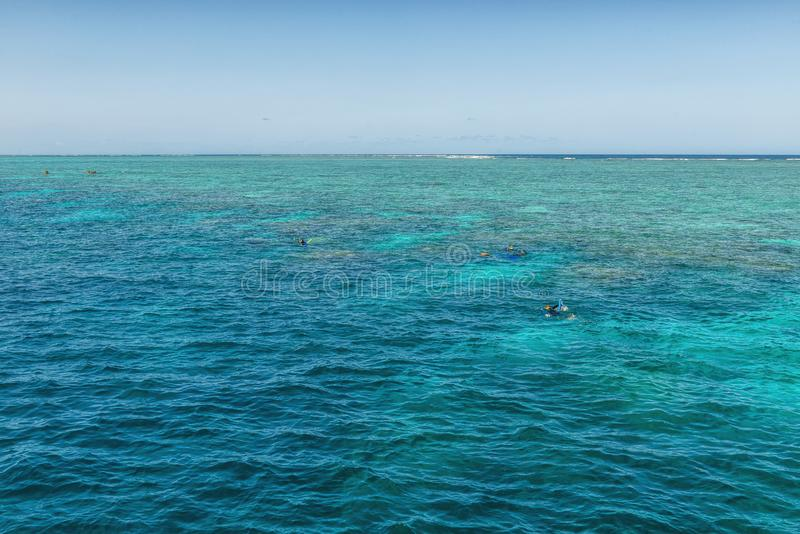 Winter sunny day on the Great Barrier Reef, Queensland, Port Douglas, Australia stock photos