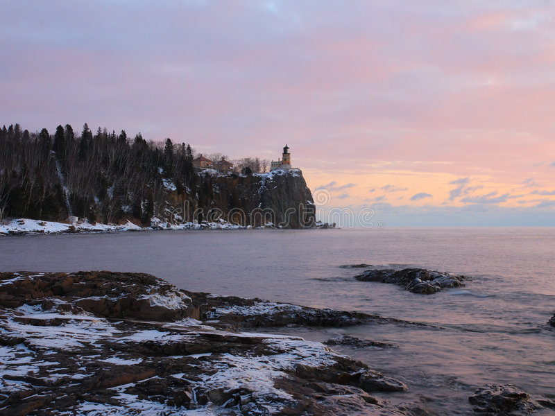 Download Winter Sunrise On Lake Superior Stock Photo - Image: 3993700