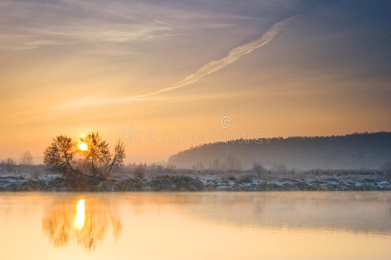 Download Winter Sunrise Over The River Stock Photo - Image: 31185332
