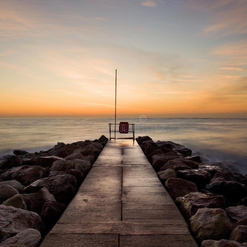 Free Winter Sunrise, Sandbanks, Dorset, UK Royalty Free Stock Image - 15013816