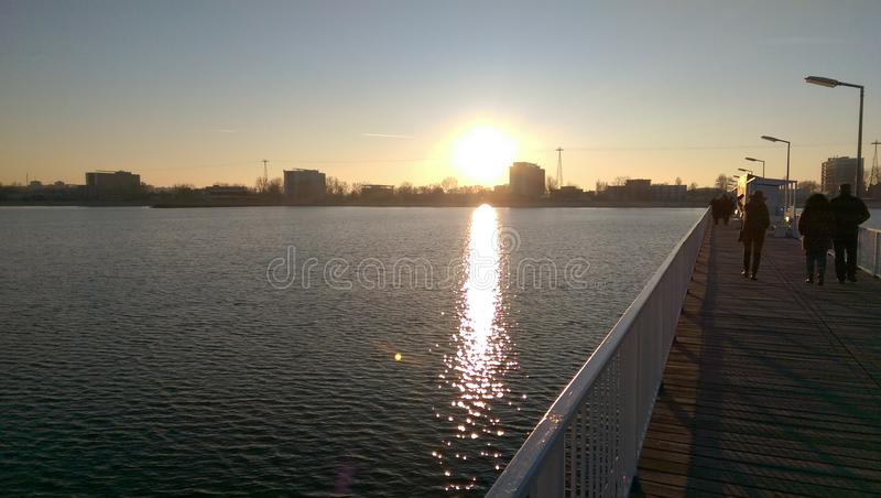 Sunset at the Black Sea royalty free stock photo