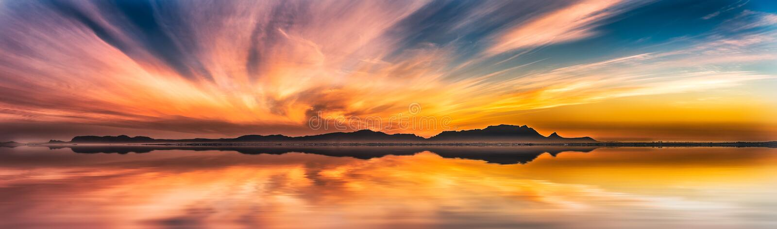 A Winter Sunset from 100 years in the future (June 18, 2116) royalty free stock image