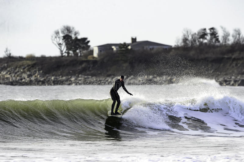 Download Winter Surfing Goosewing Beach Editorial Image - Image of beach, wave: 84304585