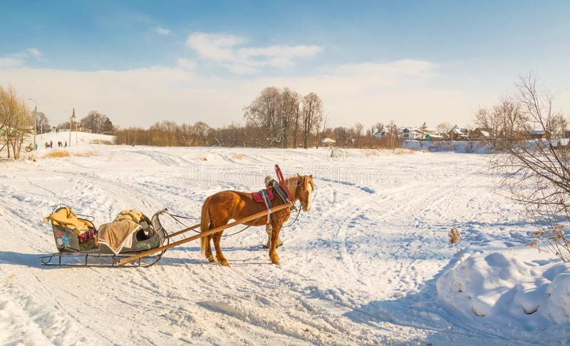 Winter Suzdal landscape royalty free stock images