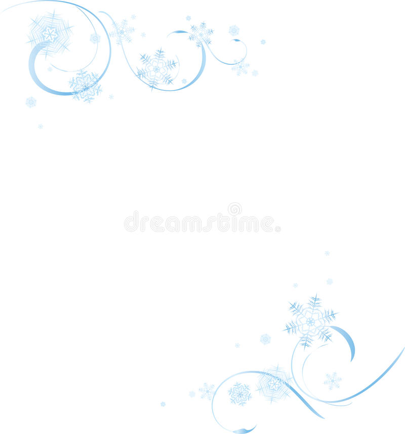 Winter Swirls vector illustration