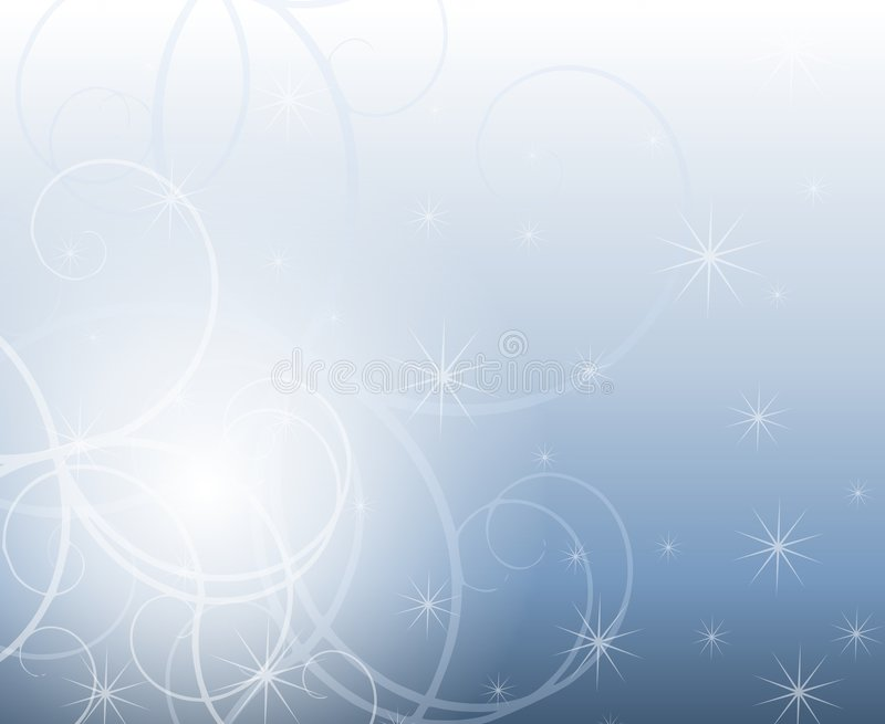 Winter Swirls and Sparkles vector illustration