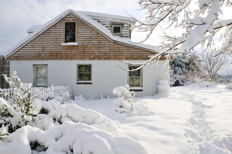 Winter-Szene stockbild