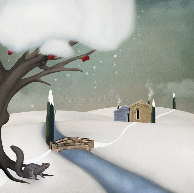 Winter tale vector illustration
