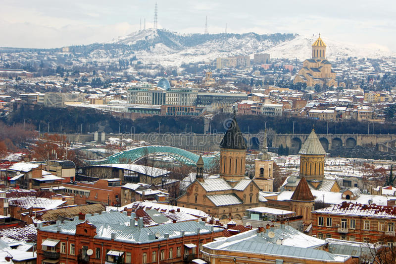 Winter In Tbilisi Royalty Free Stock Photo