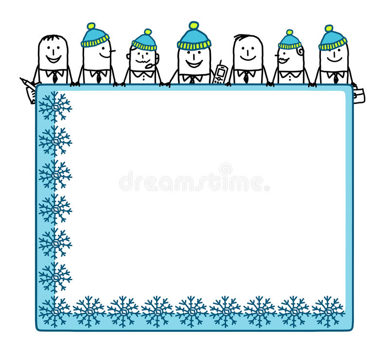 Download Winter Teamwork & Blank Space Royalty Free Stock Photo - Image: 9844435
