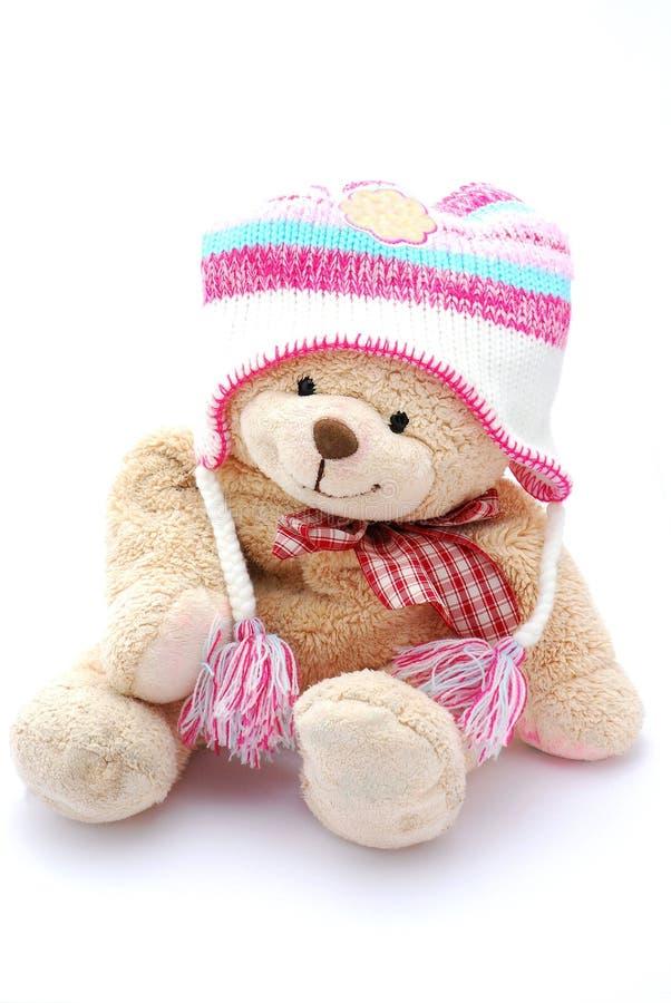 Winter-Teddybär stockfotografie