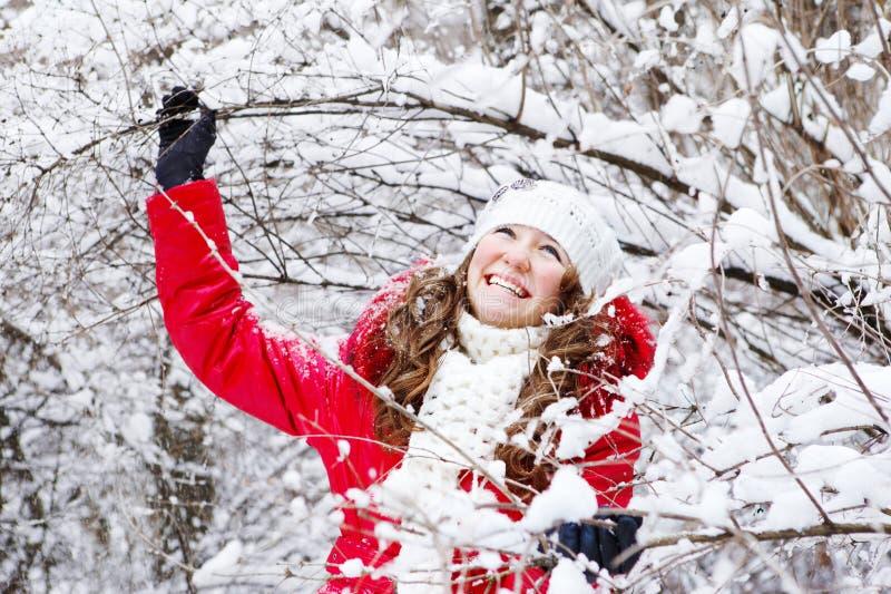 Winter teenage girl stock photos