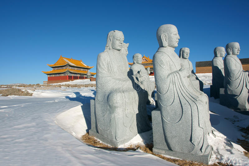 Download Winter temple stock image. Image of buddhist, mesa, buddha - 22765479