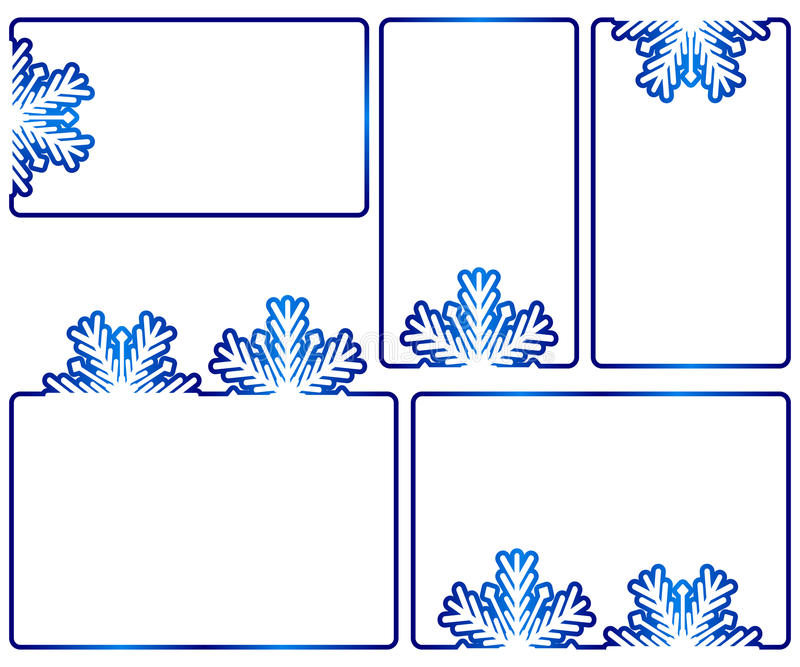 Winter text boxes royalty free illustration