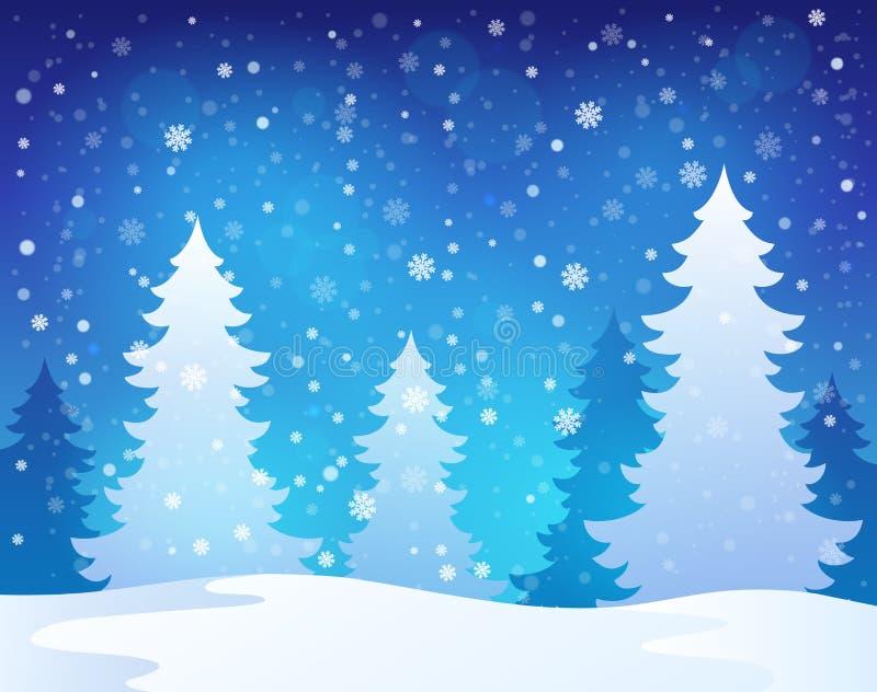 winter theme landscape 1 stock vector illustration of. Black Bedroom Furniture Sets. Home Design Ideas