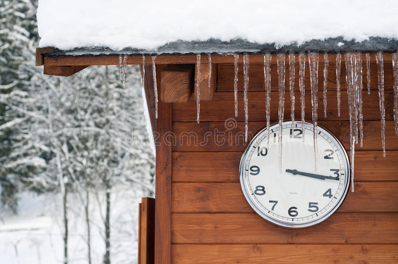 Download Winter time stock photo. Image of december, merry, clock - 26676576
