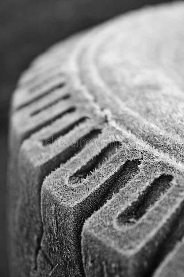 Winter tire. On a cold winter tires more work royalty free stock photos