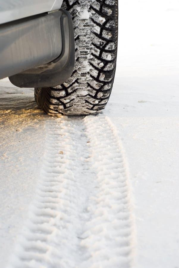 Free Winter Tires In Snow Stock Photos - 18426993