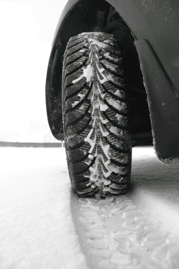 Free Winter Tires In The Snow Stock Photos - 22872743