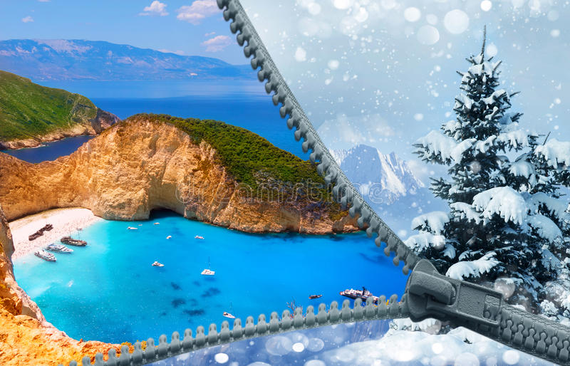 From winter to summer. royalty free stock photography