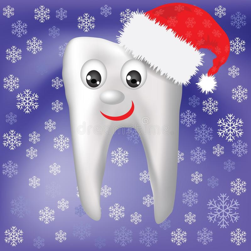 Winter tooth royalty free illustration