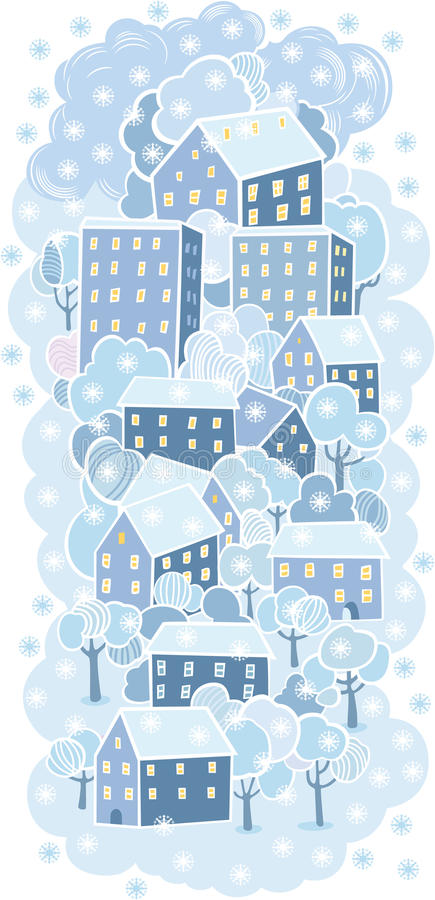 Download Winter Town Background Stock Photos - Image: 27165553