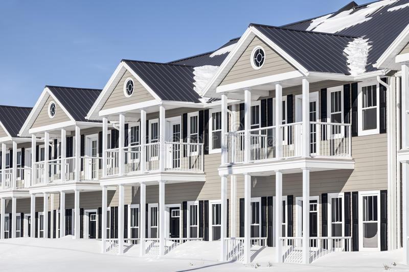 Winter Townhouses stock image