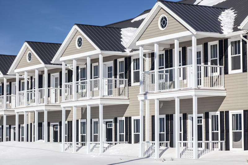 Winter Townhouses royalty free stock images