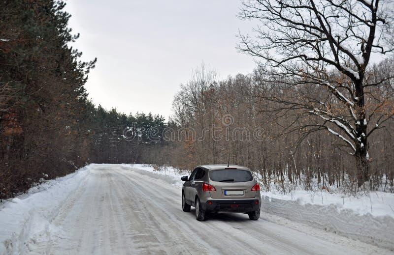 Winter traffic royalty free stock image