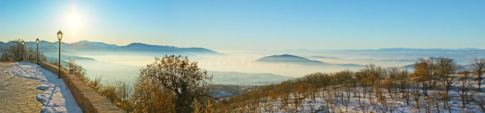 The winter travel to Greece royalty free stock photo