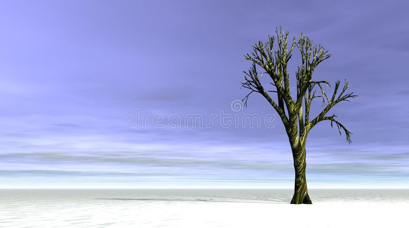 Winter tree royalty free illustration