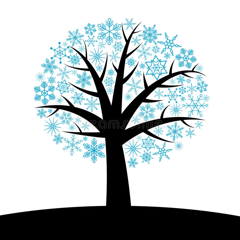 Download Winter tree stock vector. Image of image, frost, design - 12451155