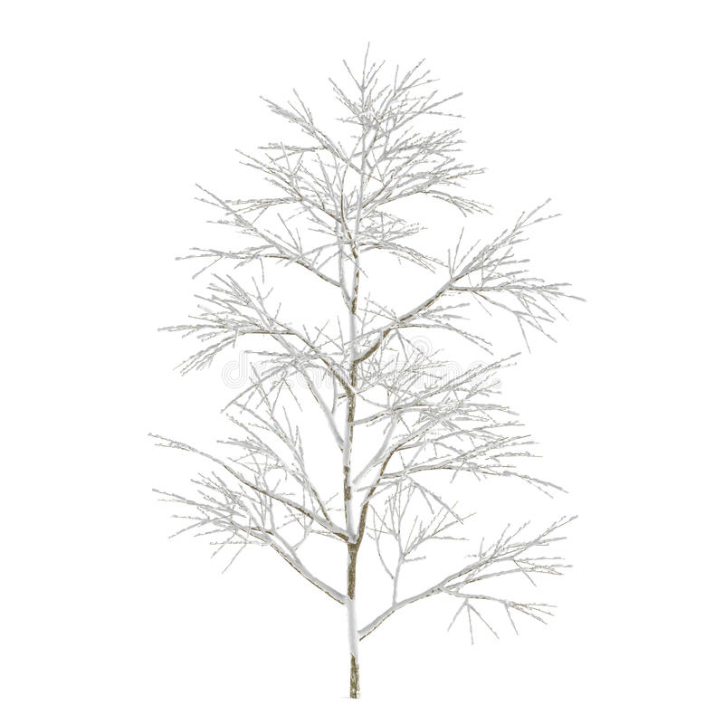 Download Winter Tree On Snow Isolated Stock Illustration - Image: 36406637