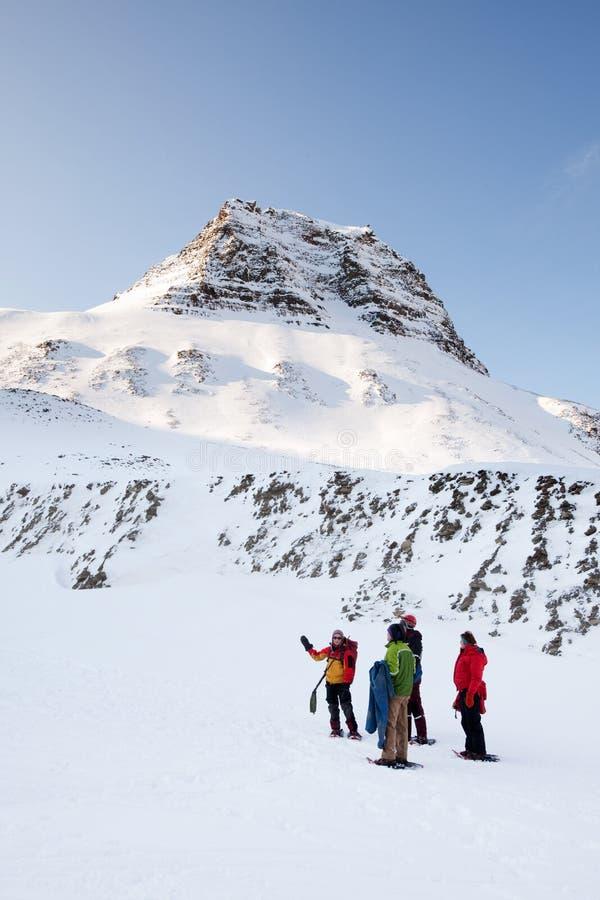 Winter Trek Guide Royalty Free Stock Photos