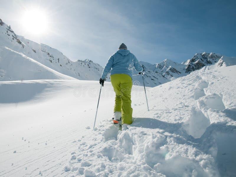 Winter-Trekking stockbild