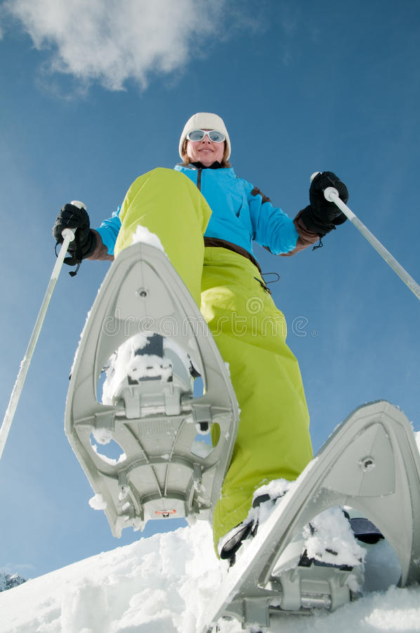 Winter-Trekking stockfotografie