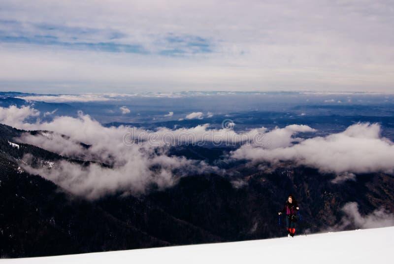 Winter Trekking in Fagaras stock photos