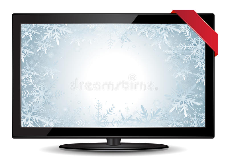 Download Winter TV stock vector. Image of christmas, video, television - 28044270