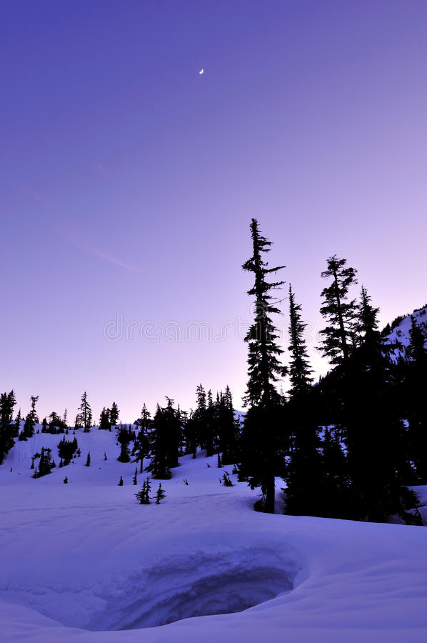 Download Winter Twilight In Mt. Baker Stock Photo - Image of winter, mountain: 13138250