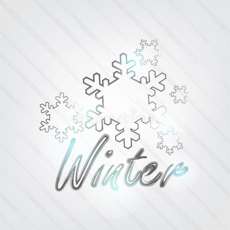 Download Winter Typography stock vector. Image of classic, elegant - 32810728