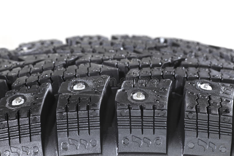 Download Winter tyre stock image. Image of thorns, black, backgrounds - 11689559