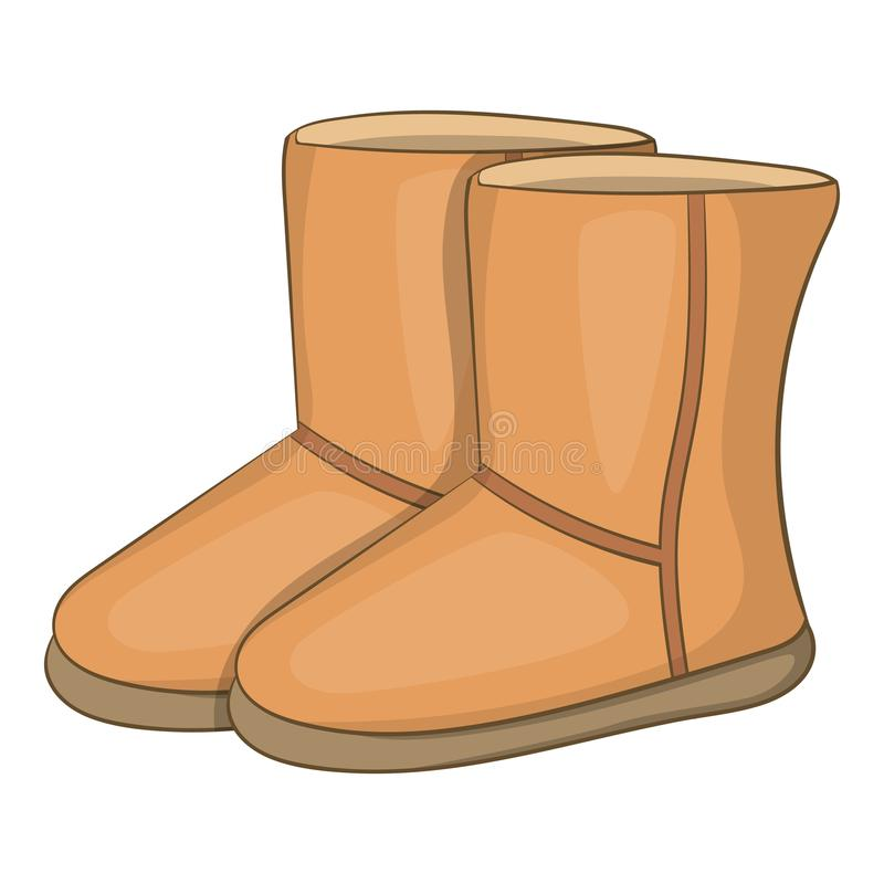 Free Winter Ugg Boots Icon, Cartoon Style Royalty Free Stock Image - 123852236