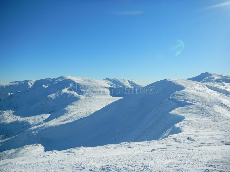Winter Ukrainian Carpathians stock photos