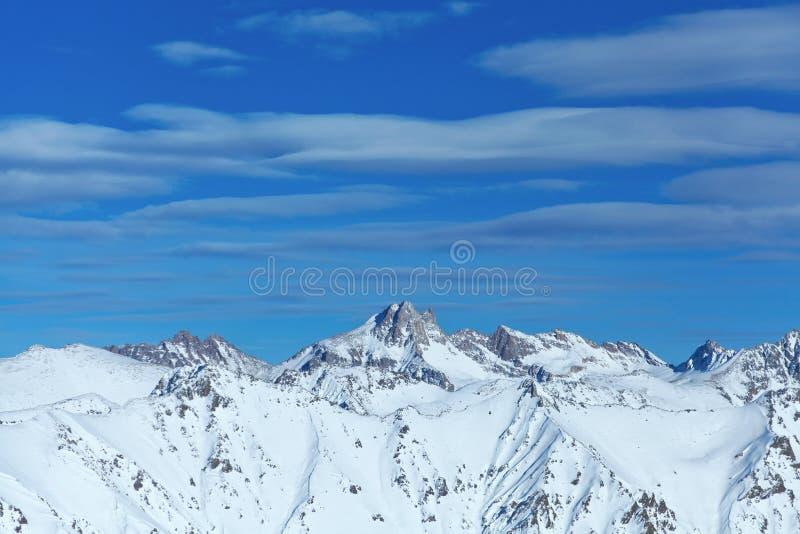 Winter van Dombai van de berg de Kaukasische rand royalty-vrije stock foto's