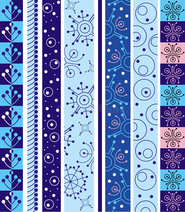 Winter vector border. Vector border from winter design elements vector illustration