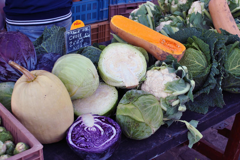 Winter vegetables market royalty free stock photography